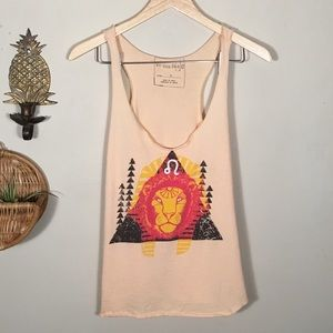 Free People We The Free Lion Graphic Swing Tank